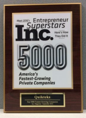 Inc 5000 Fastest Growing Companies in 2016